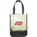 Green Grass Laminated Non-Woven Small Shopper Tote